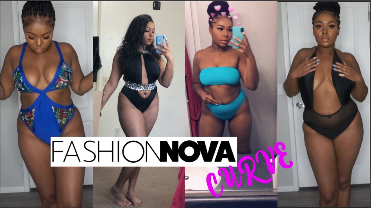 SWIMSUIT TRY ON HAUL | FASHION NOVA CURVE - YouTube