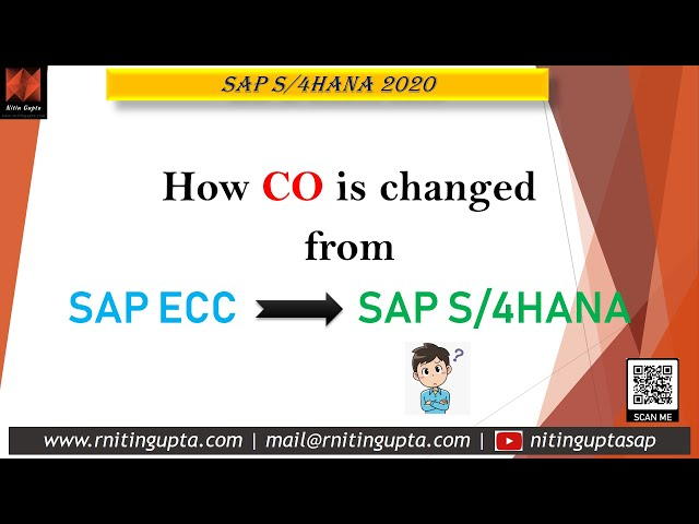 Whats changed from ECC to S/4HANA in CO?