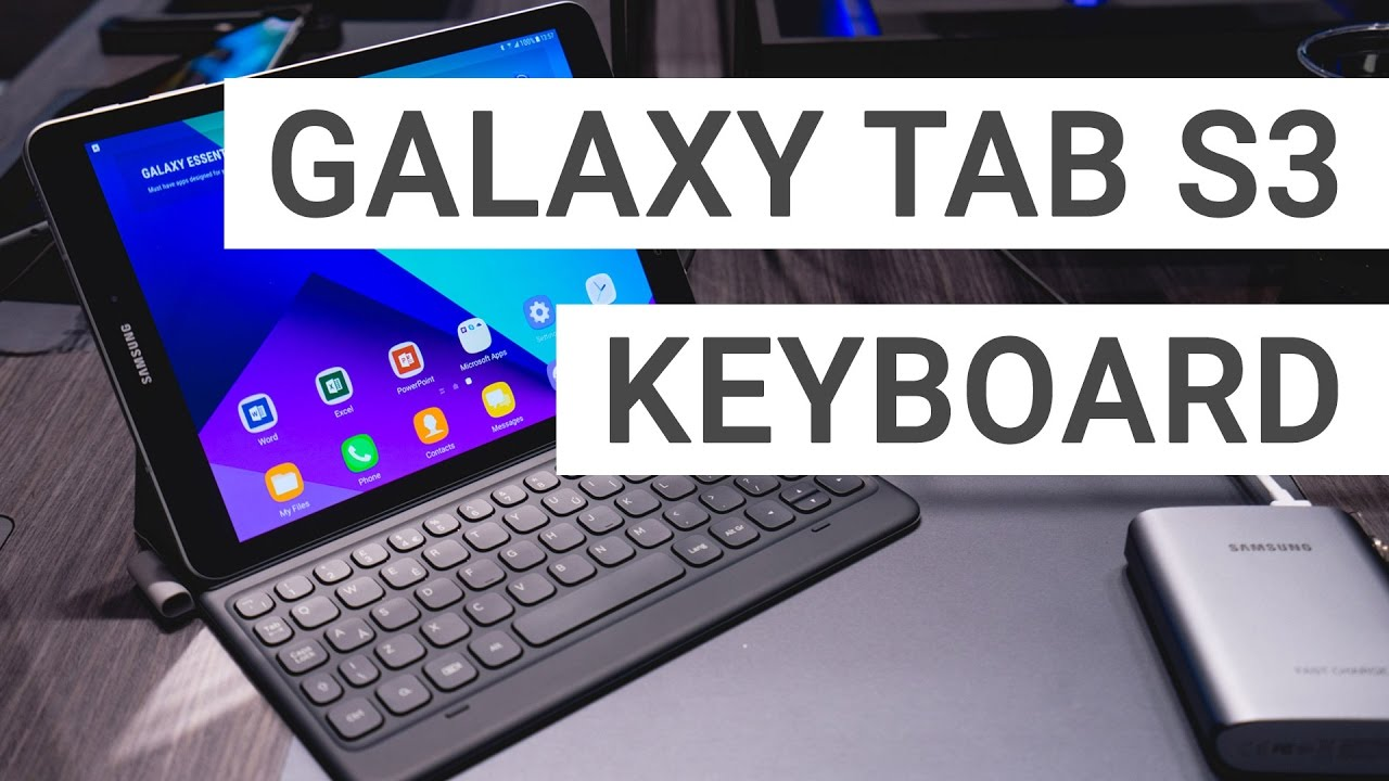 buy popular ac562 4fbf2 Samsung Galaxy Tab S3 Keyboard Cover: A closer look