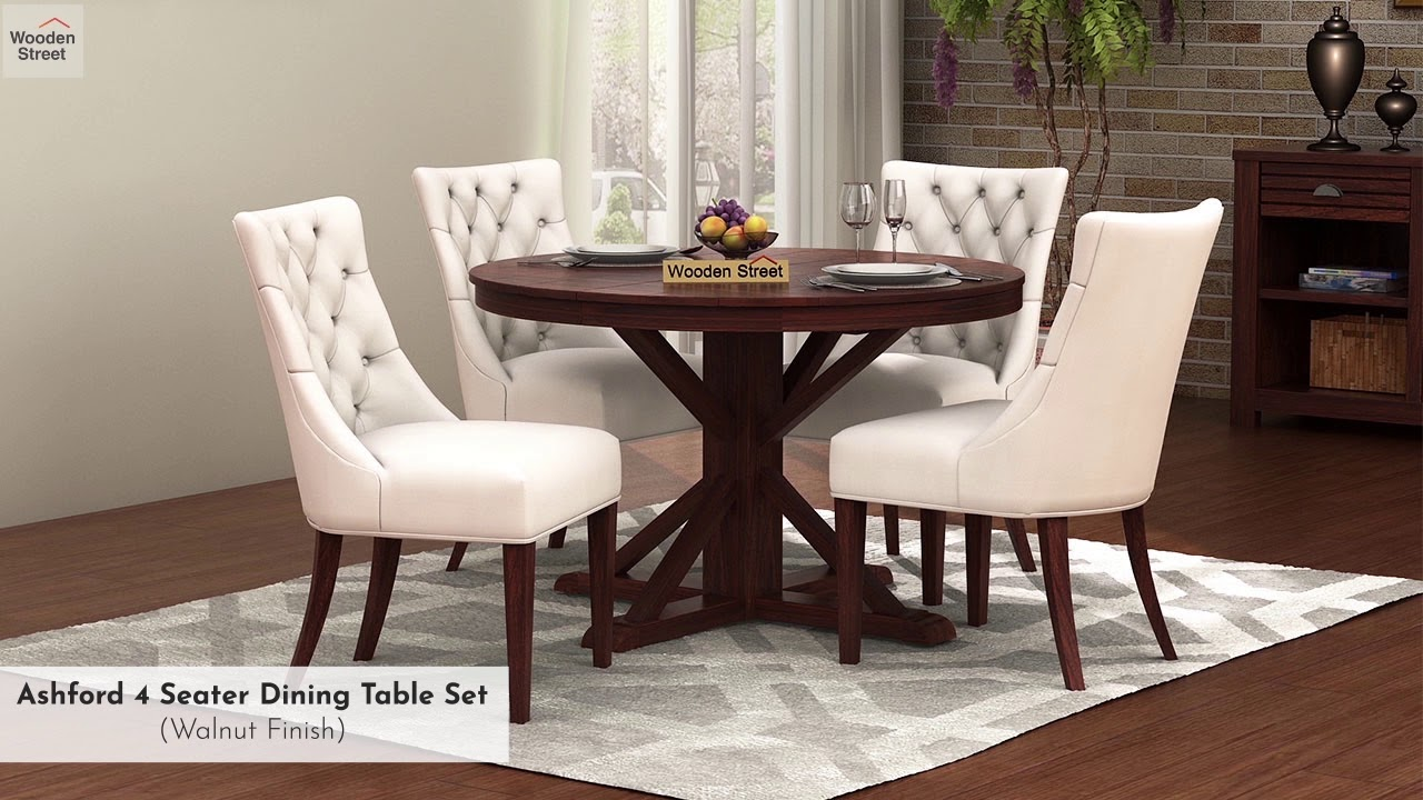 4 Seater Dining Table Set Buy Ashford 4 Seater Dining Set In Online From Wooden Street Youtube