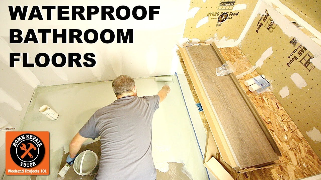 How To Waterproof Bathroom Floors Hydro Ban Method By Home Repair Tutor