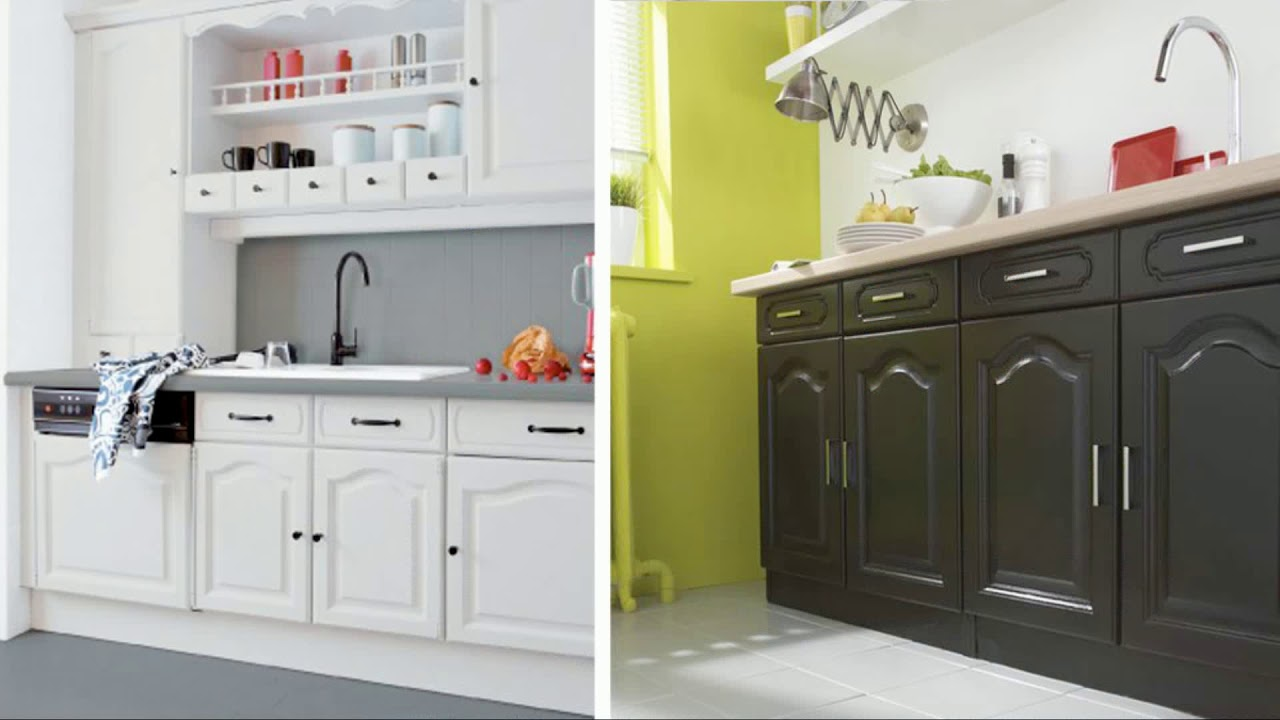 quelle peinture pour repeindre des meubles de cuisine youtube. Black Bedroom Furniture Sets. Home Design Ideas