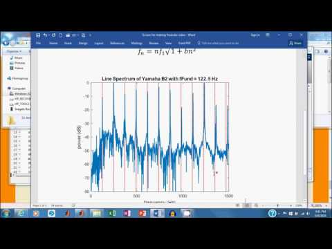 Analysis of a Sound Wave Using a Matlab Script