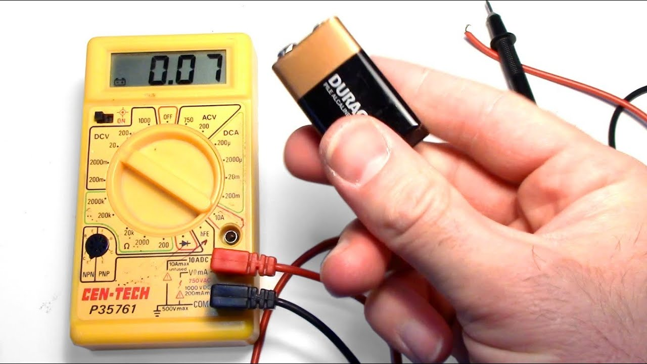 maxresdefault how to test a 9v aa aaa c or d battery with a cheap multimeter youtube