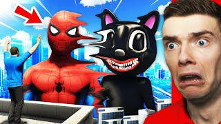 Morphing SPIDER-MAN With CARTOON CAT In GTA 5 (Mods)