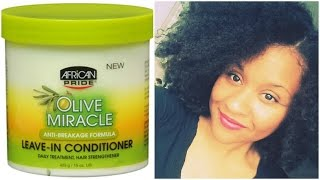 African Pride Olive Miracle Leave In Conditioner Review | Natively Natural