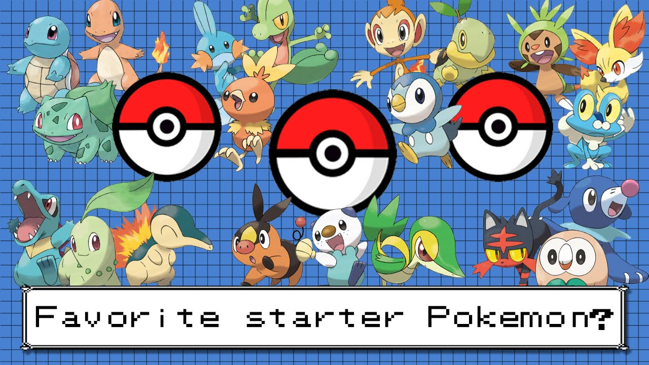 The best starter pokemon from each gen discussion youtube - Starter pokemon blanc ...