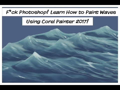 Photoshop Sucks Ass: How to Paint Waves Using Corel Painter 2017