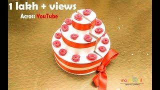 paper cake for explosion box | DIY Birthday cake | paper cake for birthday explosion box