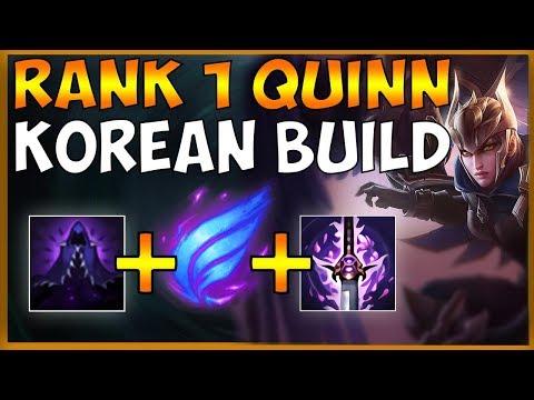 #1 QUINN TRIES OUT BROKEN KOREAN QUINN BUILD AGAIN - League Of Legends
