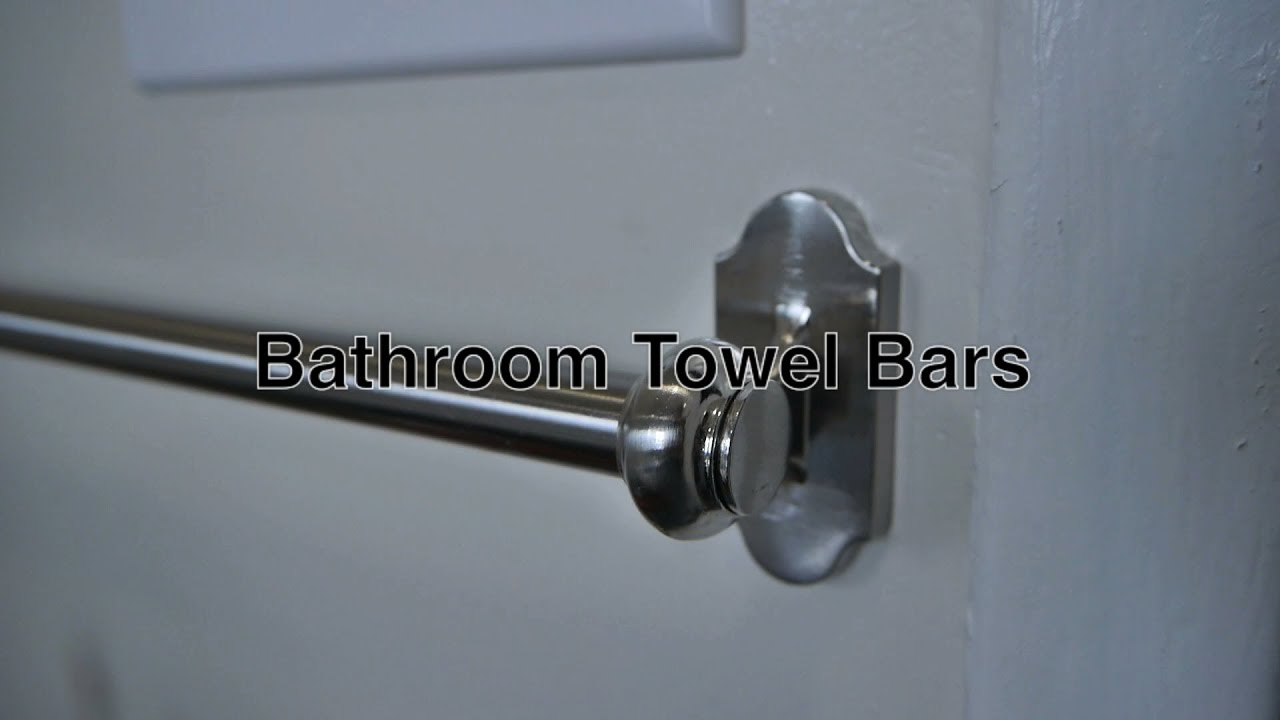 Bathroom Towel Bars For Simple Wall Mounted Storage Of
