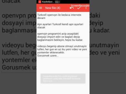 Turkcell Bedava internet, Turkcell openvpn, Turkcell config, Turkcell http injectör