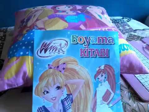 Winx Boyama Kitabım Ve Winx Yastığim Youtube