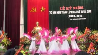 Múa Mái đình làng biển - 10 năm thành lập khoa Thuế Hquan HVTC