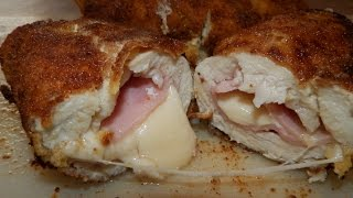 How to make Chicken Fillet Breaded Roll with Ham and Cheese (7 ingredients)