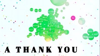 A thank you.