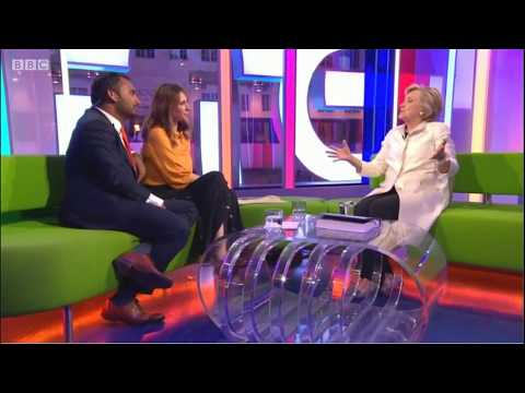 Hillary Clinton on the BBC One Show 13/10/17