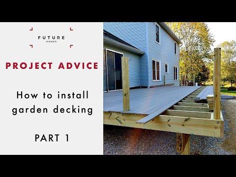 4b03274240e How to install decking 1/2: Building a frame - YouTube