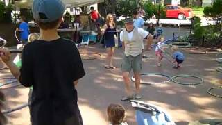 Hoop Dance Party at Pritchard Park in downtown Asheville NC Thumbnail