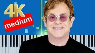 Elton John Rock and Roll Madonna (Medium) Piano Tutorial 4K