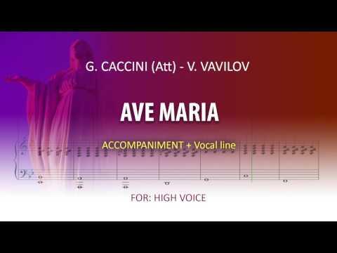 Ave Maria / Instrumental / Caccini (Att) -Vladimir Vavilov / High voice