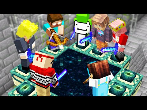 Minecraft, But YouTubers Beat The Game For You...