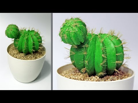 How to Make Faux Plant | DIY Barrel Cactus