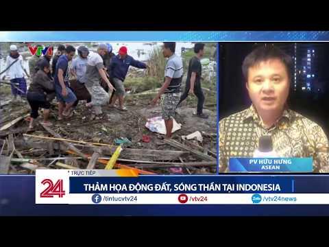 Thảm Họa động đất, Sóng Thần Tại Indonesia | VTV24