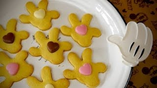 Mickey Mouse Palm Cookies With Valentine Heart-shaped Chocolate