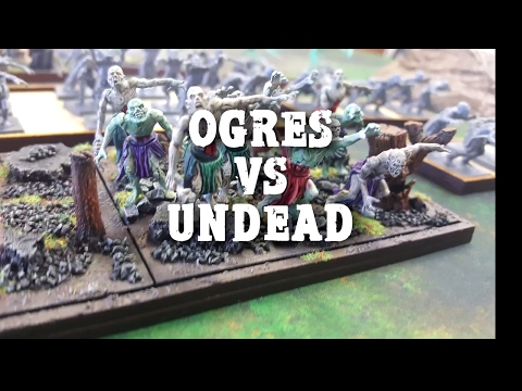 Kings of war Battle Report Undead vs Ogres Chess Clock Games
