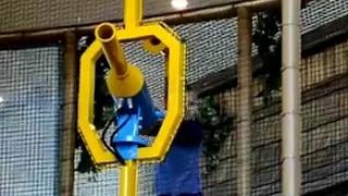 Playground for children ball blaster fun shot | Пневматическая пушка, тропа приключений