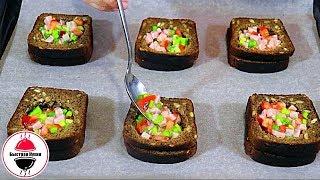 Вынимаем из хлеба середину наполняем начинкой и ВКУСНОТА НА ЗАВТРАК готова