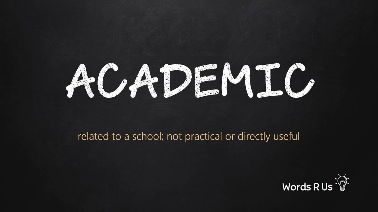 How to Pronounce ACADEMIC in American English