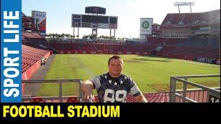 Football Raymond James stadium awesome pirate ship Tampa Bay Buccaneers | Jarek in Florida USA