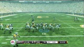 NCAA Football 12 gameplay: South Carolina vs Tennessee (Xbox 360) - Twitter @NCAAdynasty