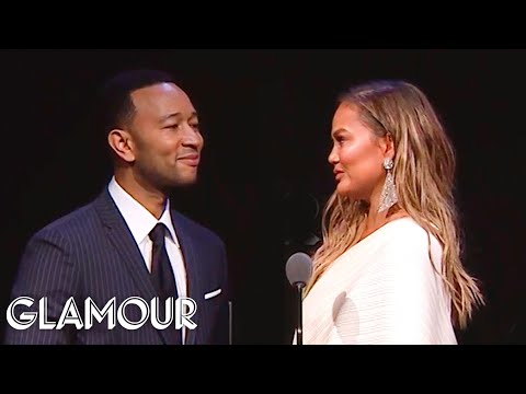 John Legend's Tearful Tribute to Chrissy Teigen | Glamour WOTY 2018
