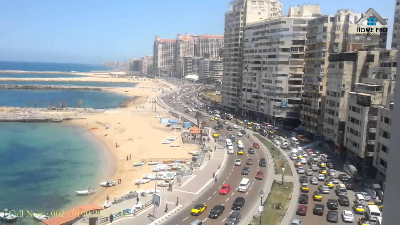 شقه للبيع في الاسكندريه على البحر مباشرةً 128 م جليم - YouTube