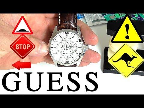 Как открыть часы guess