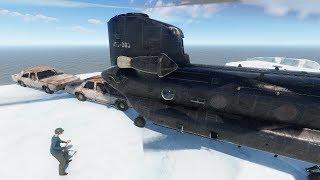 Rust - Chinook 47! Первый полет! Загружаем машины!