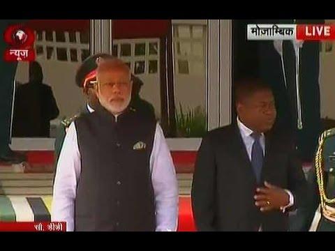 PM Modi arrives in Mozambique