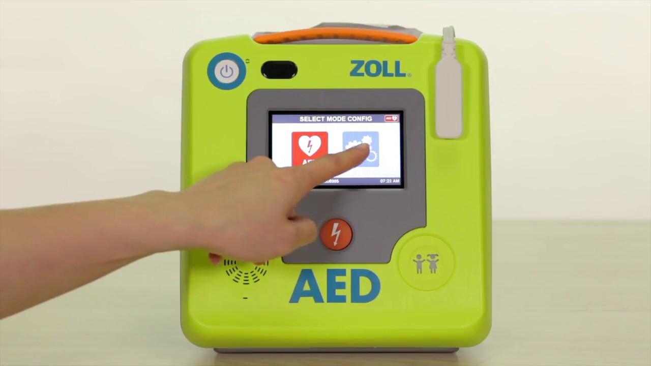 ZOLL AED 3 Réglages de base du défibrillateur AED 3 de Zoll à l'aide de  l'écran tactile ACL