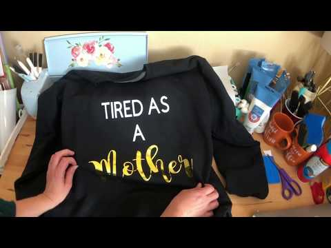 DIY Sweatshirt with Siser Metallic Heat Transfer Vinyl (HTV)