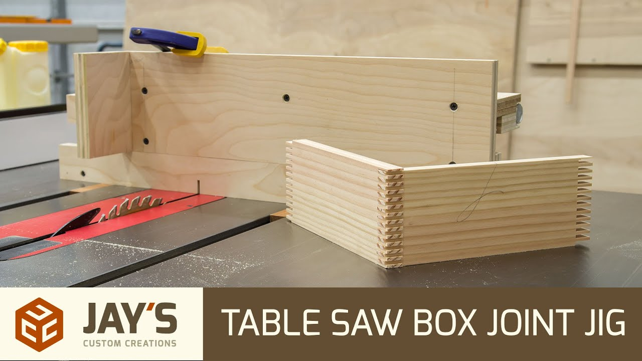 How To Make A Box Joint Jig For Table Saw