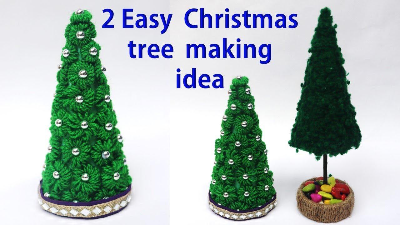 2 Easy Christmas tree making idea    Christmas tree decor idea ...