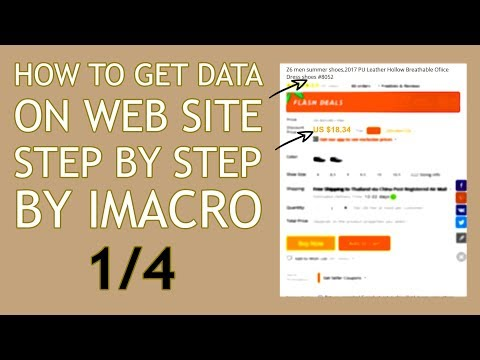 Extracting data from a website using iMacros 1/4