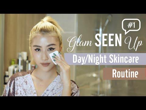 Các Bước Chăm Sóc Da Ngày & Đêm / Day & Night Skincare Routine   GlamSEENup #1