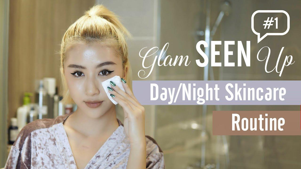 Các Bước Chăm Sóc Da Ngày & Đêm / Day & Night Skincare Routine | GlamSEENup #1