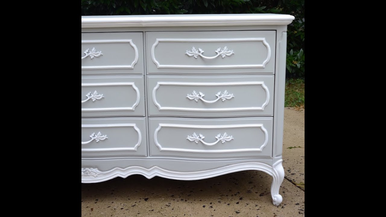 DIY Dresser Makeover: French Provincial Dresser Makeover   Thrift Diving