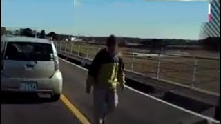 【ドライブレコーダー】路地を30km走行 →後続の老人切れて追い越し →逮捕