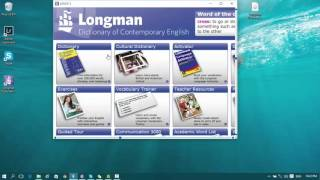 installing the longman dictionary completely.